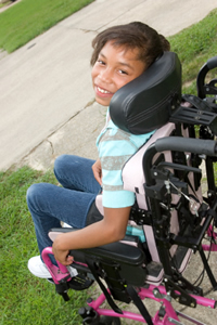 Girl in wheel chair